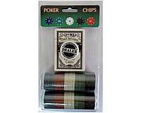 Фишки для покера 80шт и колода карт.