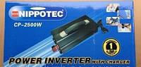 Автомобильный инвертор CP-2500W Nippotec  12/220v 2500 Ватт с зарядным устройством Нипотек, фото 1
