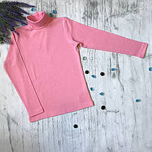 Водолазка для девочки Lovetti 1023. Размер 134-152. Черная, темно-синяя, кремовая, розовая