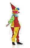 Детский карнавальный костюм для мальчика Клоун Фантик 110-140р, фото 2