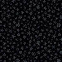 """Ткань для пэчворка и рукоделия американский хлопок """"Снежинки на черном"""" - 25*55 см"""
