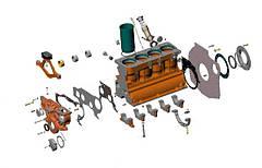 Двигатель. Подвеска и блок цилиндров