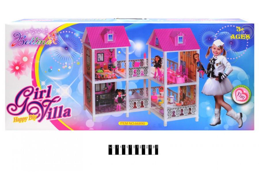 Домик для кукол Барби 66890, кукольный домик с мебелью