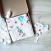 """Подарочный набор для новорожденного, на крещение, подарок на год """"Лес mini"""""""