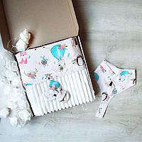 """Подарочный набор для новорожденного, на крещение, подарок на год """"Лес mini"""", фото 1"""