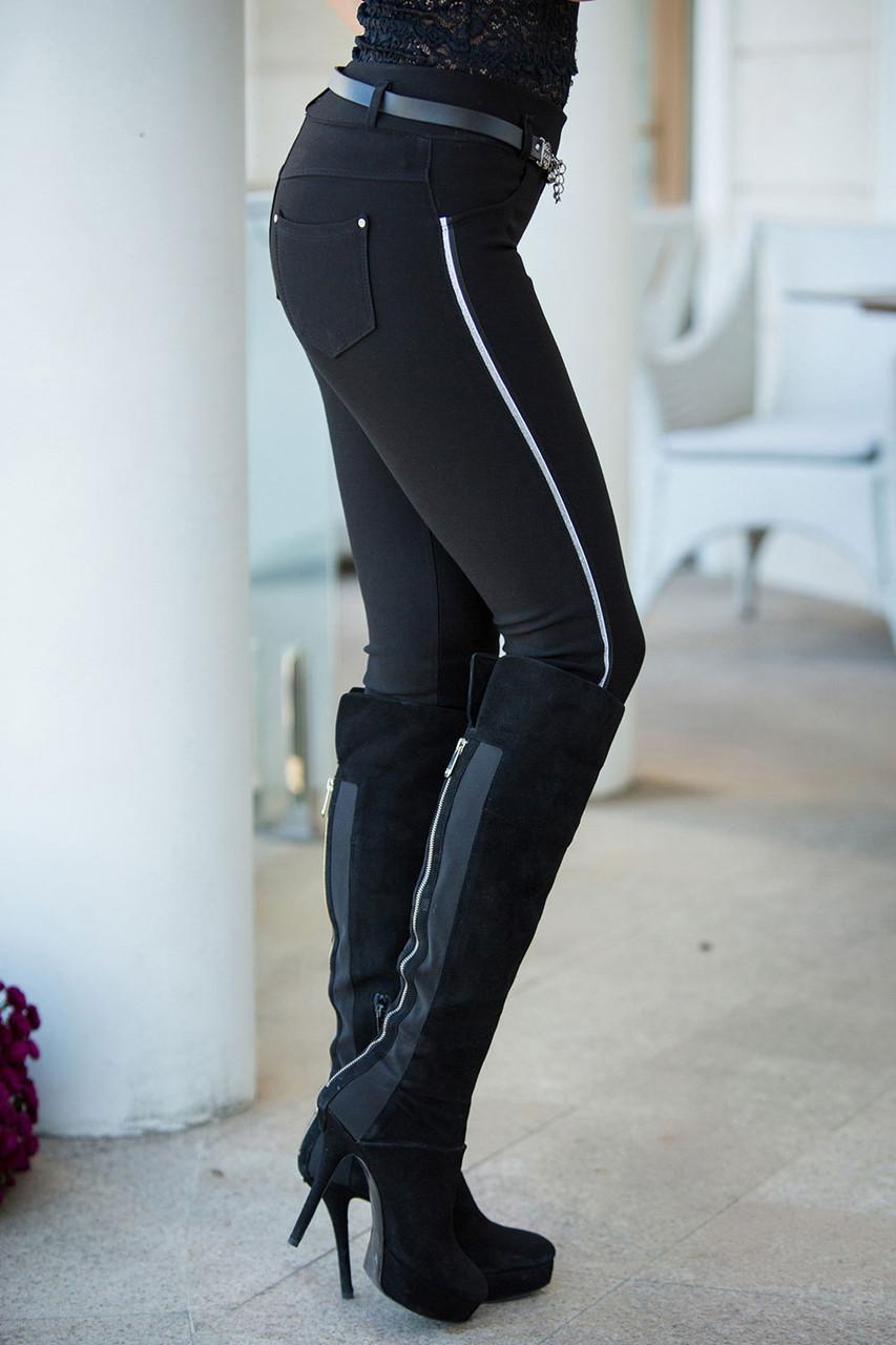 Леггенсы в джинсовом стиле
