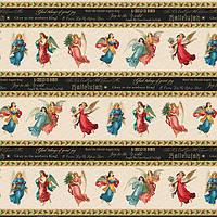 """Ткань для пэчворка и рукоделия американский хлопок """"Рождественский бордюр"""" - 23*98 см (1 полоса)"""