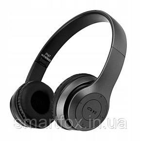 Наушники беспроводные P47 (Bluetooth+SD card+FM+with cable), фото 2