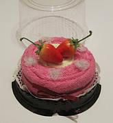"""Полотенце-тортик """"Кремовый торт(розовый)"""""""