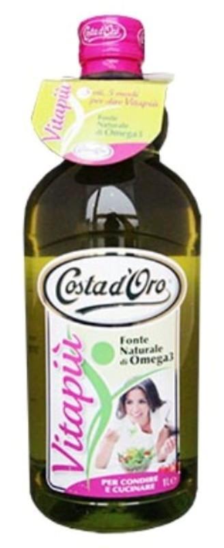 Мікс п'яти олії першого холодного віджиму Costa D'oro Vitapiu Omega 3, 1 л.