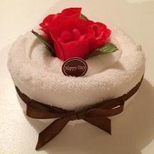 """Рушник-тортик """"чайна Троянда червона"""""""