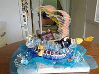 """Корабль из конфет для мужчины """"Шхуна старого пирата"""""""