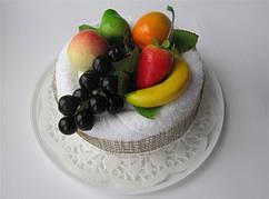 """Полотенце-тортик """"Торт тропические фрукты"""""""