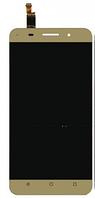 Дисплей (экран) для Huawei Honor 4X (CherryPlus-L11)/Che2-L11/ Glory Play 4X + тачскрин, золотистый, фото 1