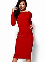 Женское платье-футляр с открытой спиной (Лолаkr)