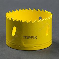 Коронка биметаллическая 22 мм без хвостовика (сверло корончатое) Topfix