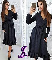 Платье  женское в низу с воланом в расцветках 3412, фото 1