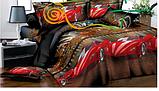 """Комплект постельного белья из ранфорса ТМ """"Ловец снов"""", Машинка и город, фото 2"""
