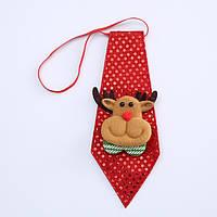 Краватка новорічний червоний