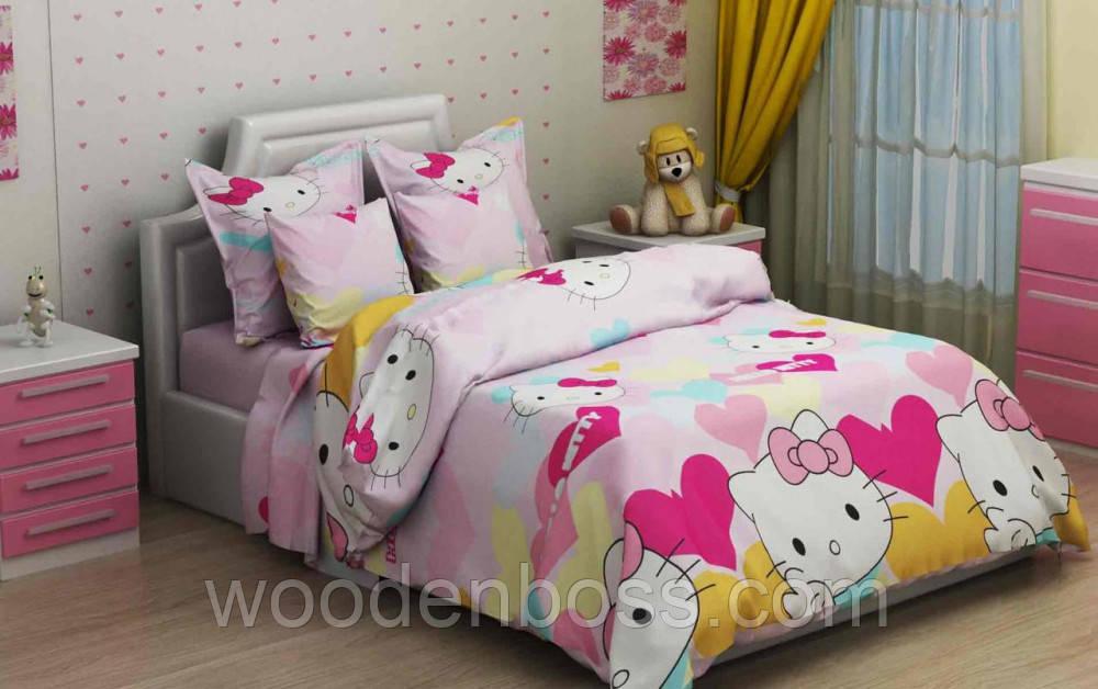 """Комплект постельного белья """"Китти розовый"""", бязь"""