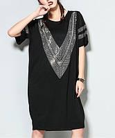 Платье-туника, Oversize, короткий рукав