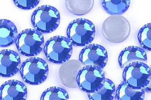 Камни Crystal Stone(HF).Цвет Sapphire ss16(4mm).Цена за 100шт