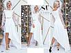 Платье вечернее асимметрия костюмка + гипюр вышивкой 42,44,46, фото 4