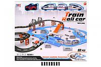 Железная дорога и Авто трек 2 в 1 (717 см.), свет, звук, залізна дорога 8870-1