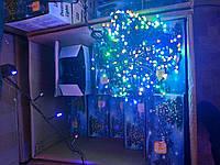 Гирлянда светодиодная 100 лампочек, 6 метров, мультиколор разноцветная