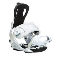Крепление для Сноуборда Gnu Weird Snowboard Bindings Белые M, L 12/13