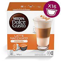 Кофе в капсулах NESCAFE Dolce Gusto Latte Macchiato Caramel 16 шт. (Нескафе Дольче Густо Карамель)