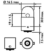 Светодиодная автомобильная лампа SL LED цоколь BA9S(7004-14) 8-3014 LED  Белый, фото 3