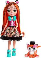 Кукла Enchantimals Тензи Тигра и Тафт Tanzie Tiger Doll & Tuft, фото 1