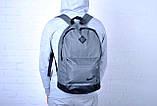 Рюкзак серый с черными вставками. Найк, nike. Ромбик. Спортивный, городской. Vsem, фото 2
