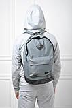 Рюкзак серый с черными вставками. Найк, nike. Ромбик. Спортивный, городской. Vsem, фото 3