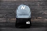 Городской рюкзак для тренировок в стиле New Balance серый с черным