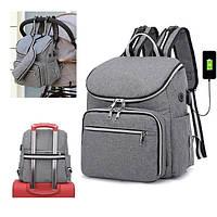 Рюкзак для мамы SLINGOPARK Серый
