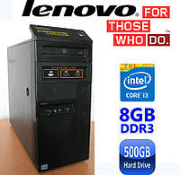 Lenovo M6400t - Intel Core i3-3240 3.4GHz/ 8GB DDR3-1600/ 500GB HDD Системный блок, Компьютер, ПК