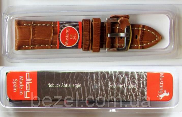 Ремешок для часов из натуральной кожи телёнка 22 мм, стальная бакля