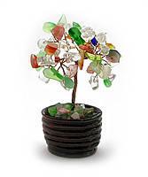 Дерево с камнями 7 см,деревья счастья, декоративные деревья,искусственные бонсаи,товары для дома