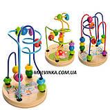 Деревянная игрушка Лабиринт на проволоке, 12 см,в коробке арт 0060 ., фото 2
