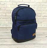 Стильный рюкзак Levi`s, левис, левайс. Повседневный, городской. Синий с черным Vsem, фото 2