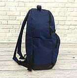 Стильный рюкзак Levi`s, левис, левайс. Повседневный, городской. Синий с черным Vsem, фото 3
