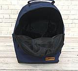 Стильный рюкзак Levi`s, левис, левайс. Повседневный, городской. Синий с черным Vsem, фото 7