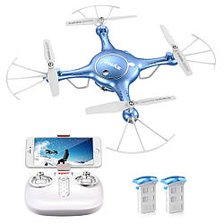 Квадрокоптер SYMA X5UW FPV 720P HD Wi-Fi камера + Видеокарта + бонус-батарея
