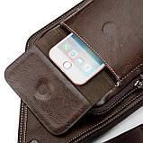 Сумка-рюкзак на одно плечо, кобура, слинг Jeep Buluo. Темно-коричневая / J 603 DB Vsem, фото 6