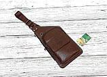 Сумка-рюкзак на одно плечо, кобура, слинг Jeep Buluo. Темно-коричневая / J 603 DB Vsem, фото 7