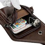 Сумка-рюкзак на одно плечо, кобура, слинг Jeep Buluo. Темно-коричневая / J 603 DB Vsem, фото 9