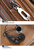 Сумка-рюкзак на одно плечо, кобура, слинг Jeep Buluo. Темно-коричневая / J 603 DB Vsem, фото 10
