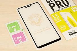 Защитное стекло Full Glue для Xiaomi Mi 8 Lite клей по всей поверхности (Black)